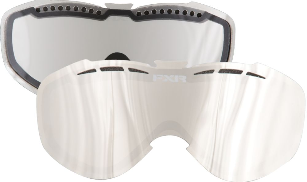 FXR Recruit Dual Lens - Silver/Clear