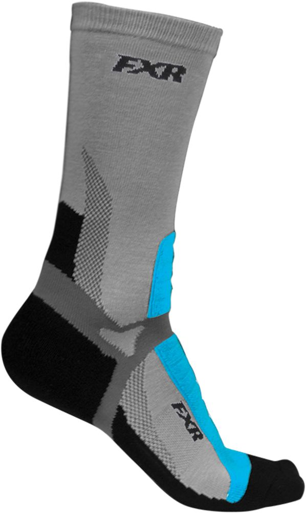 FXR Womens Team Sock - One Size - Charcoal/Black/Blue