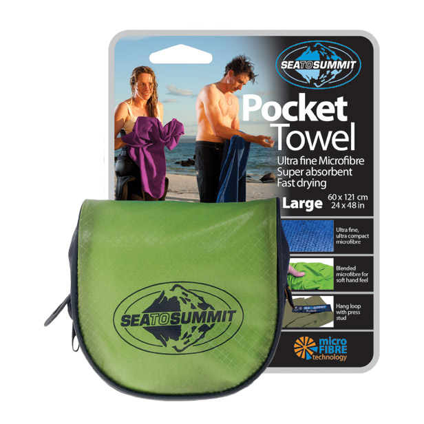 Sea To Summit Pocket Towel - Lime - S