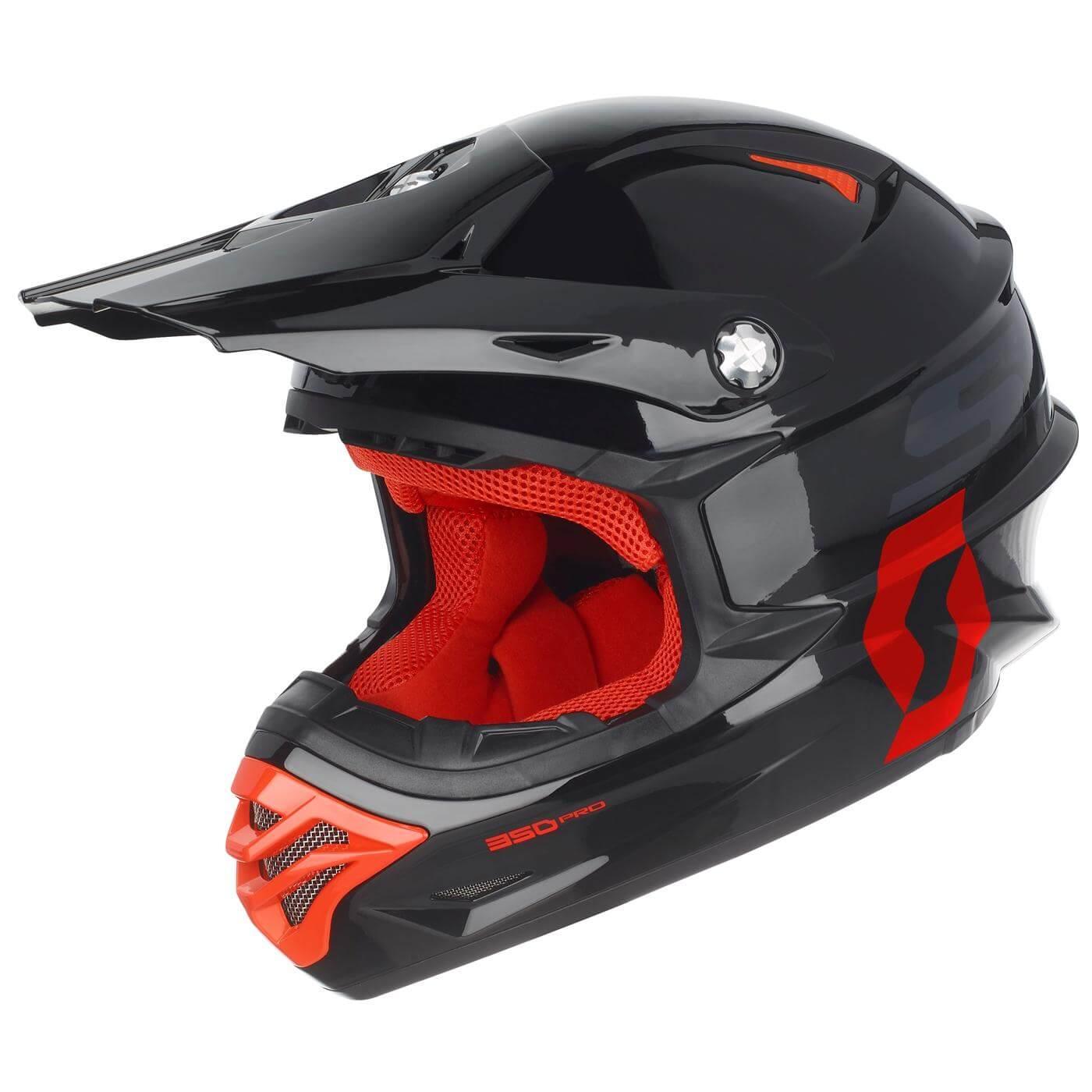 Scott 350 Pro Hjelm - Sort/Orange - S