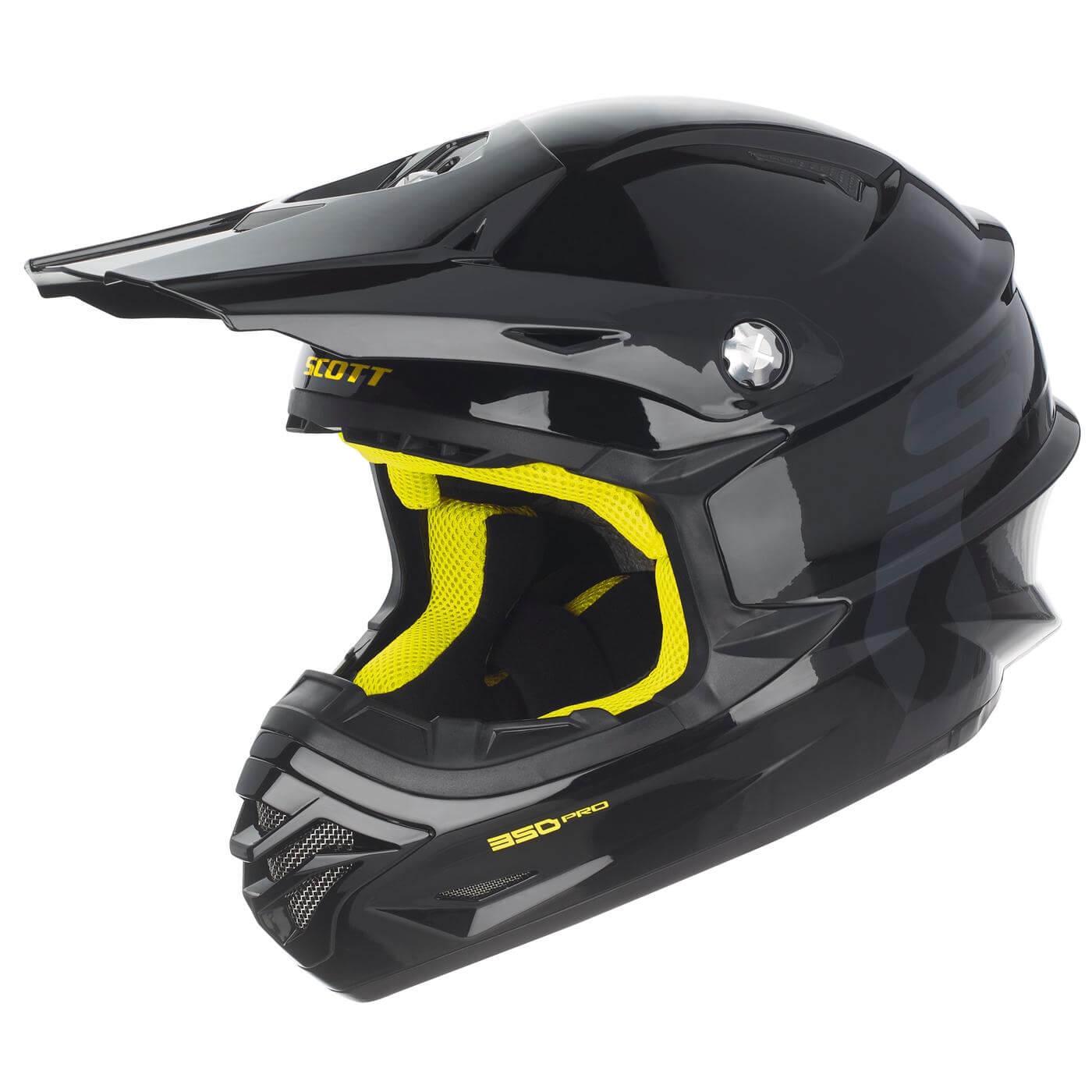 Scott 350 Pro Hjelm - Sort/Gul - XS