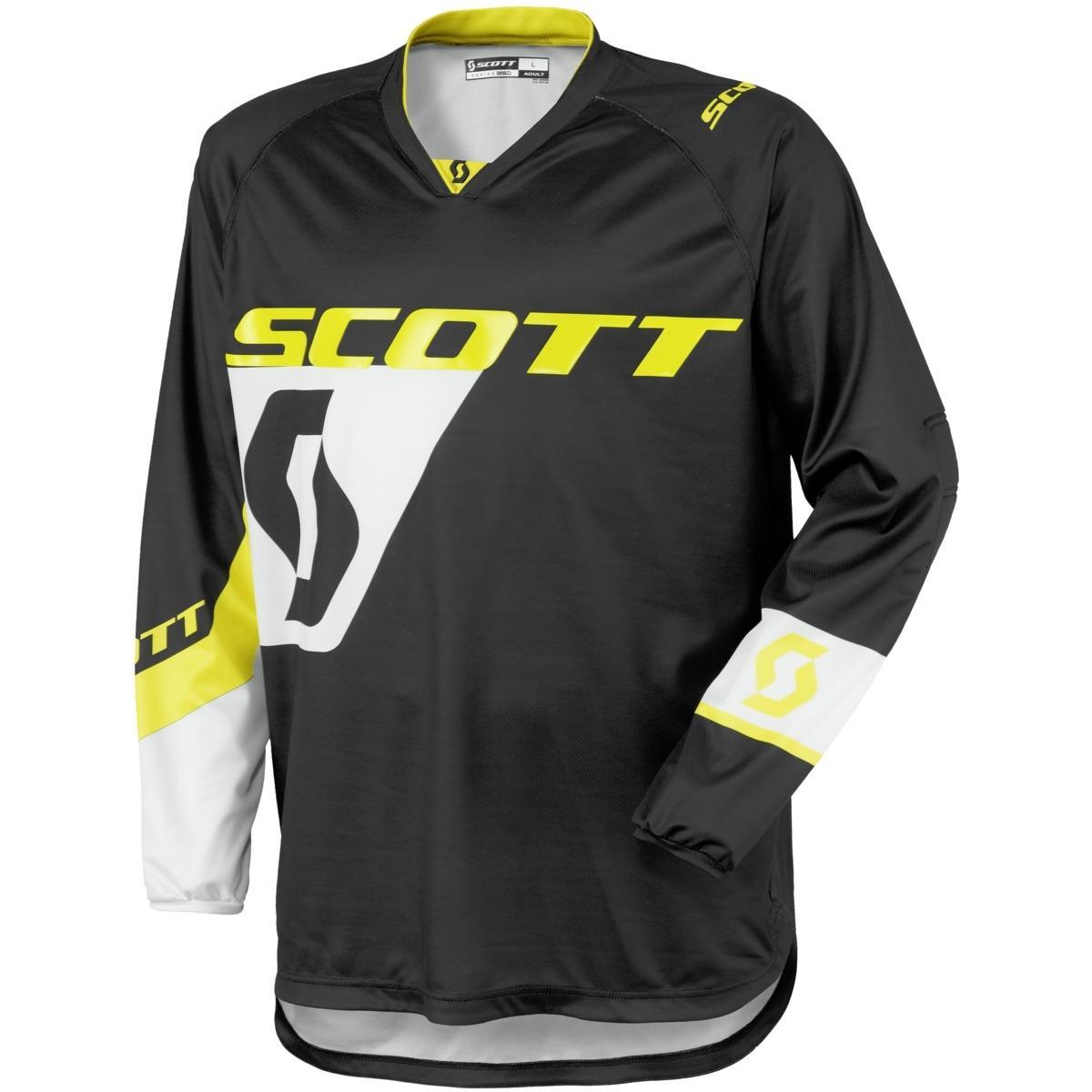 Scott 350 Dirt Trøye - Sort/Gul - L