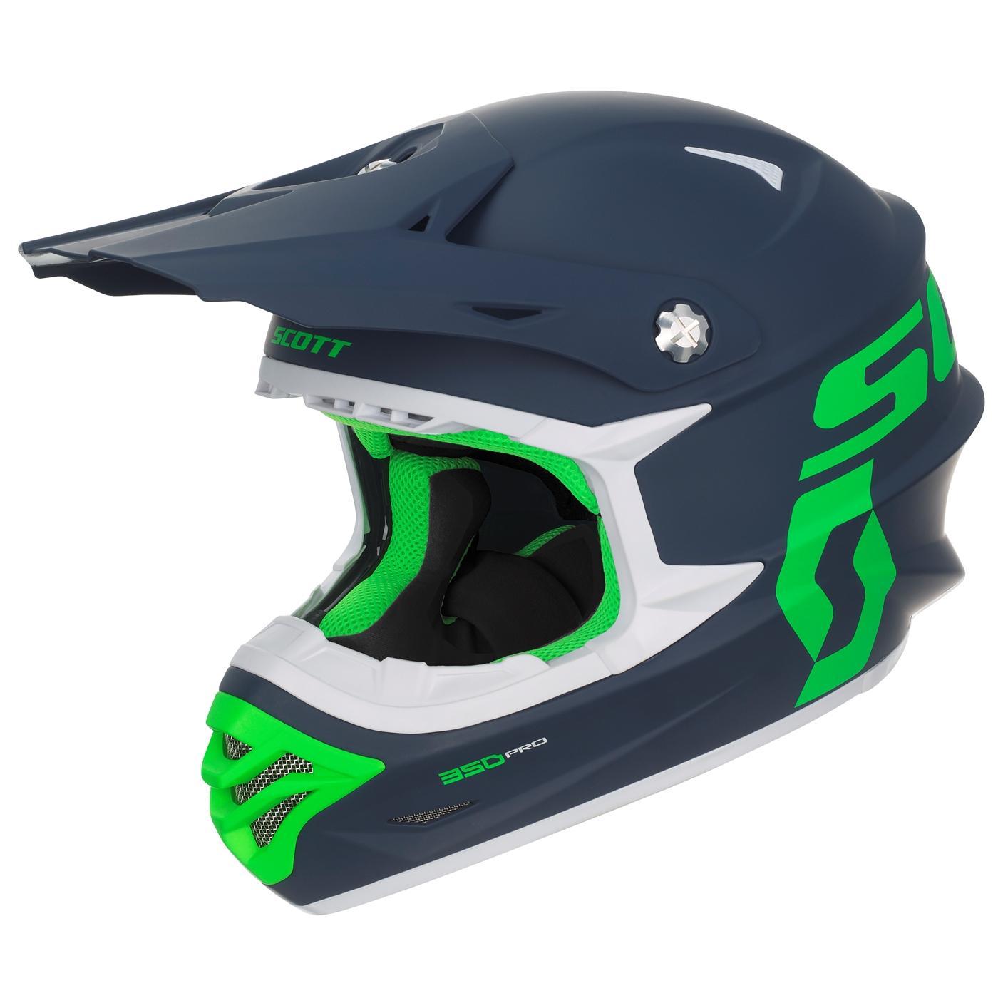 Scott 350 Pro Hjelm - Blå/Grønn - XS