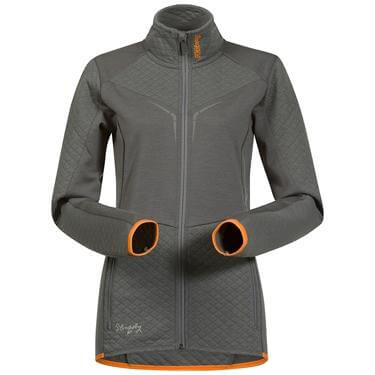 Bergans Middagstind Lady jacket - SolidGrey/Pumpkin - XL