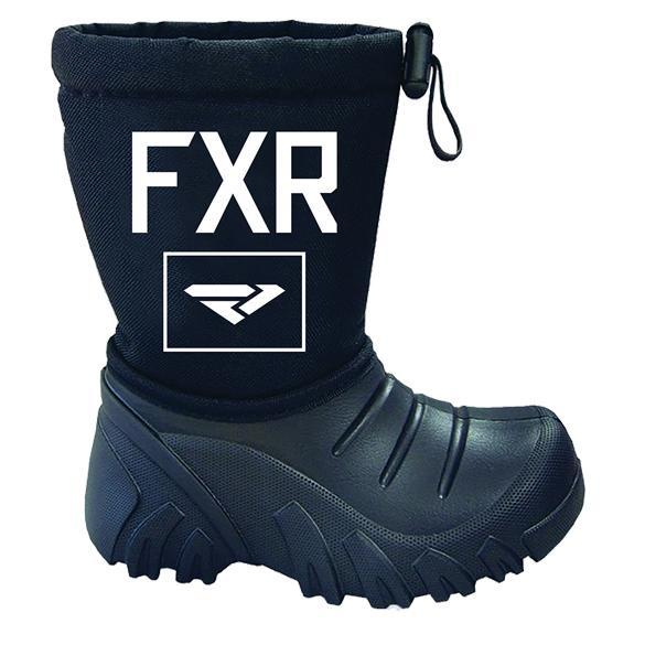 FXR Youth Shredder Boot - Black - 24/25