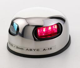 LED-Kombilanterne 12 V - Rustfri, Horisontal
